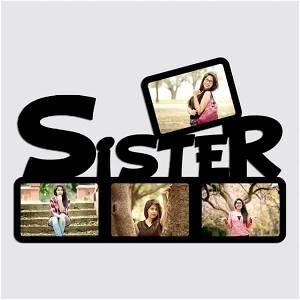 Sister Wooden Photo Frame/Collage 4 Photos