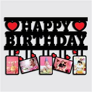 Your Text OR Name Wooden Photo Frame Collage 5 Photos(Example: Happy Anniversary,Happy Birthday ETC.)#147