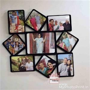 Unique Cutout Multiphoto Frame/Collage 9 Photos