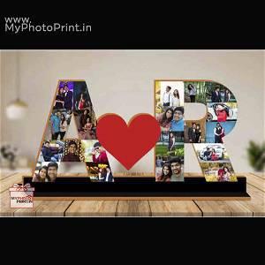 Couple A to Z Photo Alphabet Table Top