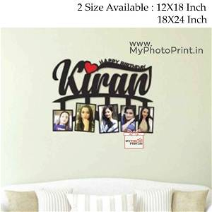 Personalized Name Wooden Photo Frame Collage 5 Photos