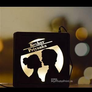 Customized Couple Face Name Board