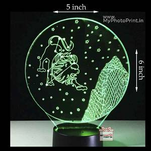 Leo Zodiac Sign Acrylic 3D illusion LED Lamp with Color Changing Led and Remote#1508