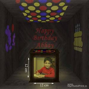 Birthday Photo Shadow Box with Multicolour Electric Night Lamp Choose Occassion > We Call You After Order Also