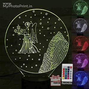 Virgo Zodiac Sign Acrylic 3D illusion LED Lamp with Color Changing Led and Remote#1512