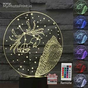 Cancer Zodiac Sign Acrylic 3D illusion LED Lamp with Color Changing Led and Remote#1514