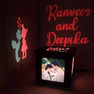 Love Photo Shadow Box with Multicolour Electric Night Lamp Choose Occassion > We Call You After Order Also
