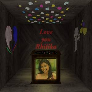 Love Heart Photo Shadow Box with Multicolour Electric Night Lamp Choose Occassion > We Call You After Order Also