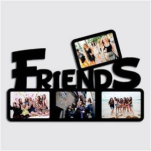 Friends Wooden Photo Frame/Collage 4 Photos