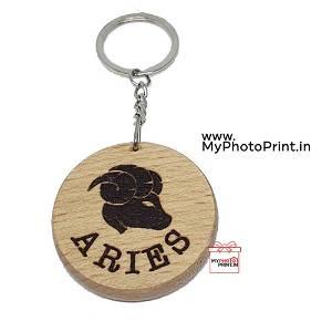 Aries Zodiac icon Keychain