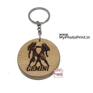 Gemini Zodiac icon Keychain