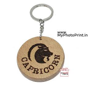Capricorn Zodiac icon Keychain