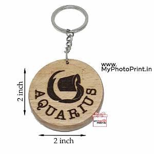 Aquarius Zodiac icon Keychain