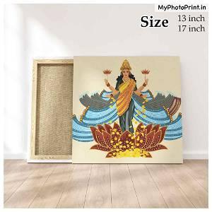 Maa Laxmi ji Photo Frame Canvas #1570 /Any Query Whatsapp Us After Order