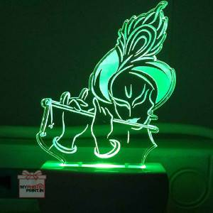 Kanha ji Plug Acrylic Night Lamp With Multicolor Lights