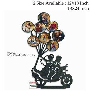 Personalized Couple Wooden Photo Frame Collage 8 Photos