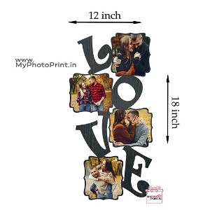 Personalized Love Wooden Photo Frame Collage 4 Photos