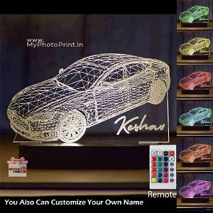 Personalized 3D Car Acrylic 3D illusion LED Lamp with Color Changing Led and Remote#1587