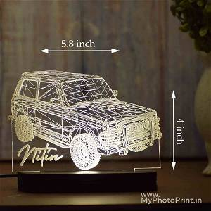Personalized 3D Jeep Car Acrylic 3D illusion LED Lamp with Color Changing Led and Remote#1594