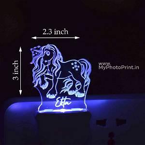 Personalized Unicorn Plug Acrylic Night Lamp With Multicolor Lights #1596