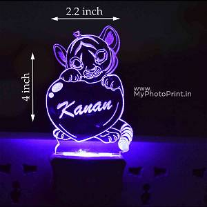 Personalized Simmba Plug Acrylic Night Lamp With Multicolor Lights #1605