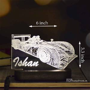Personalized Racing Car Acrylic 3D illusion LED Lamp with Color Changing Led and Remote #1610