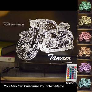Personalized Bullet Acrylic 3D illusion LED Lamp with Color Changing Led and Remote #1611