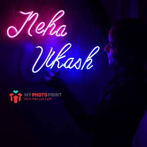 Custom Name Led Neon Sign Decorative Lights Wall Decor | Size Approx 12 inch X 18 inch According to Name