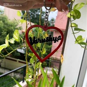 Customized Heart Acrylic Name Keychain