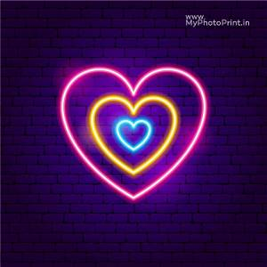 Neon Colourful Heart Name Led Neon Sign Decorative Lights Wall Decor