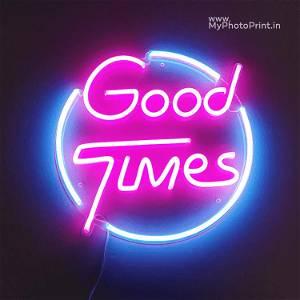 Neon Good Times Name Led Neon Sign Decorative Lights Wall Decor
