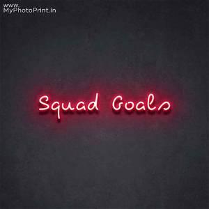 Neon Squad Goals  Led Neon Sign Decorative Lights Wall Decor