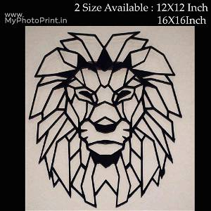 Lion Head Wooden Wall Decoration