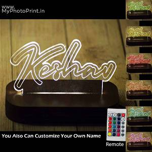 Personalized Name Acrylic 3D illusion LED Lamp with Color Changing Led and Remote #1633