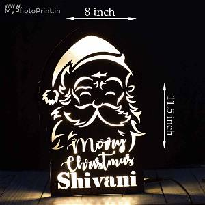 Customized Merry Christmas Name board With Led Remote #1637