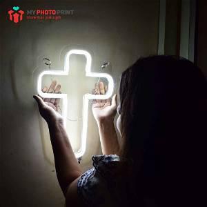 Jesus Christ Cross Neon Light Sign Decorative Lights Wall Decor