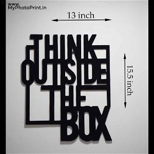 Think OutSide The Box Wooden Wall Decoration