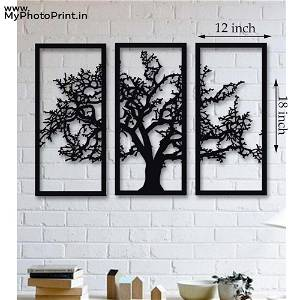 Tree of Life 3 Pieces Wooden Wall Decoration