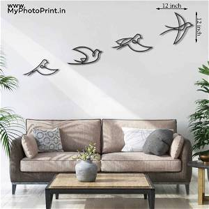 Flying Birds Wooden Wall Decoration