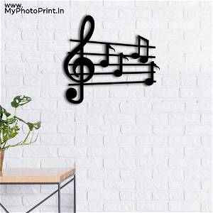 Geometric Wooden Music Wooden Wall Decoration