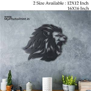 Roaring Lion Wooden Wall Decoration