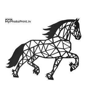Running Horse Wooden Wall Decoration