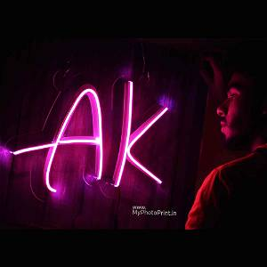 Neon Alphabetic Initial Led Neon Sign Decorative Lights Wall Decor