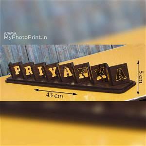 Customized Golden Acrylic Flip Name
