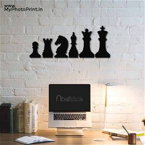 Chess Characters Wooden Wall Decoration