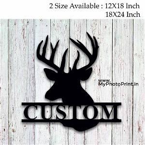 Customized Deer Sign Wooden Wall Decoration
