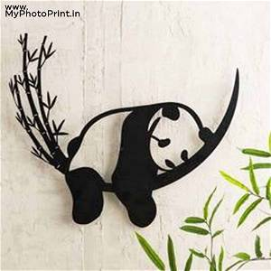 Resting Panda Wooden Wall Decoration