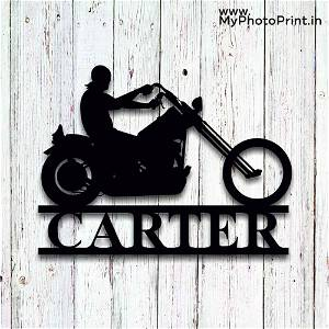 Customized Motorcycle Wooden Wall Decoration