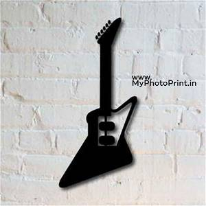 Guitar Wooden Wall Decoration