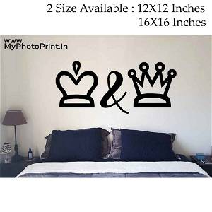 King & Queen Wooden Wall Decoration